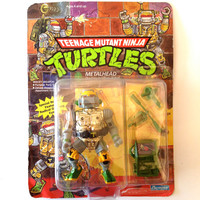 TMNT Sealed MetalHead .. Ninja Turtles MetalHead Sealed Action Figure .. TMNT Action Figure Toy Teenage Mutant Ninja Turtles Metalhead Robot