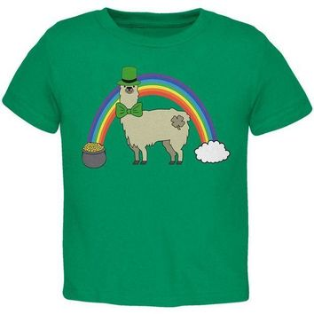 CREYCY8 St. Patrick's Day Llama Cute Pot Of Gold Toddler T Shirt