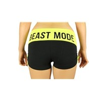 Beast Mode Side Scrunch Booty in Yellow | oGorgeous Gym Boutique