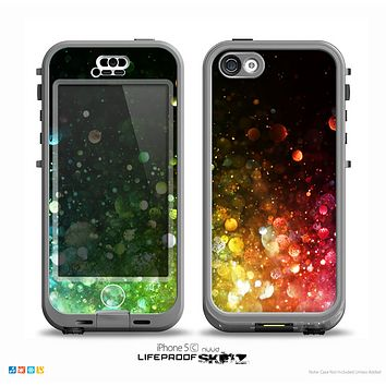 The Neon Glowing Grunge Drops Skin for the iPhone 5c nüüd LifeProof Case