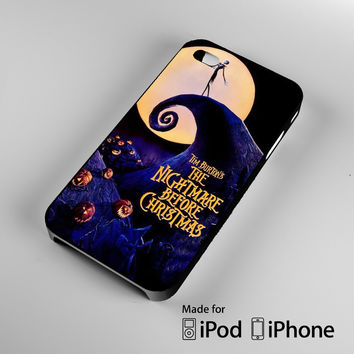 The Nightmare Before Christmas Jack Skellington A0225 iPhone 4S 5S 5C 6 6Plus, iPod 4 5, LG G2 G3, Sony Z2 Case