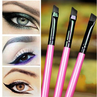 3pcs/lot Super Soft Professional Oblique Makeup Eyebrow Brush Eyeshadow Blending Angled Brush Comestic Make up Tool #M02212