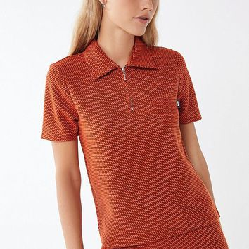 Stussy Faye Quarter- Zip Collared Shirt | Urban Outfitters