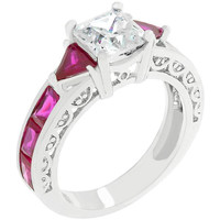 Ruby Red Regal Ring, size : 07