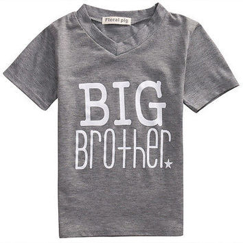 Big/Little Brother Kids Short Sleeve Cotton T-shirt Boy Clothes