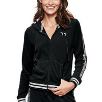 Velour Perfect Full-Zip - PINK - Victoria's Secret