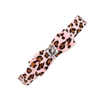 Big Bow Collar — Pink Cheetah Couture