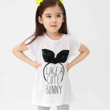 Cool Summer Alphabet Print Lace Butterfly Short Sleeve Tops T-shirts [4920519492]