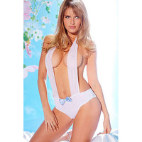 On Sale Cute Hot Deal Sexy White Hollow Out Lace Sleepwear Exotic Lingerie [6596411395]