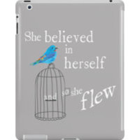 She Believed in Herself and So Flew: iPad Cases & Skins