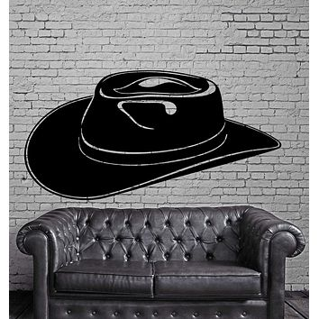 Cowboy Hat Texas Lone Star State Wall Decor Mural Vinyl Decal Art Sticker Unique Gift M595