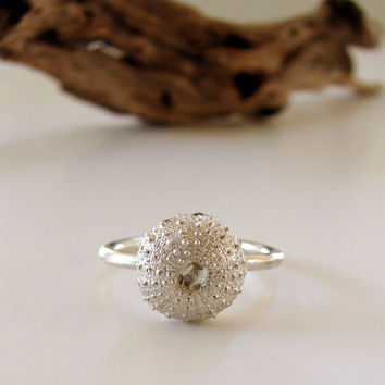 Sea Urchin Ring Engagement Ring