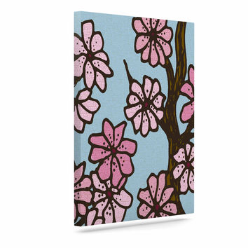 "Art Love Passion ""Cherry Blossom Day"" Floral Illustration Canvas Art"