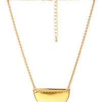 FOREVER 21 Sliding Crescent Pendant Necklace Gold One