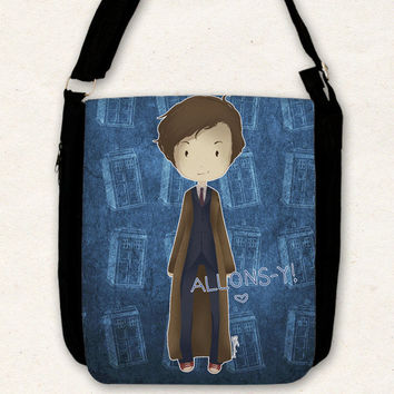 Doctor Who ( 10th doctor and the TARDIS ) - Big shoulder bag
