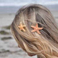 Starfish Hair Clips Small, TWO Included SOOO Pretty