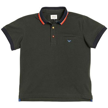 Boys Dark Green Logo Polo Shirt