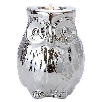 Torre & Tagus Owl Candle Holder - Silver