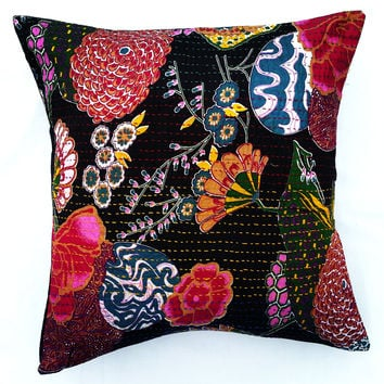 Hand-Embroidered Pillow Covers