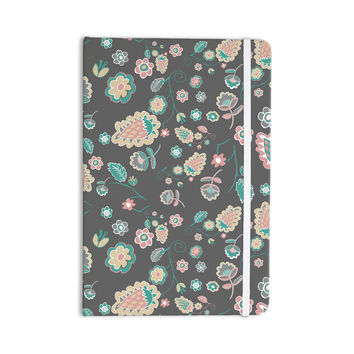 "Nika Martinez ""Cute Winter Floral"" Gray Pastel Everything Notebook"