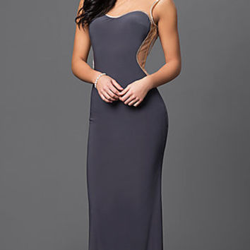 Dresses, Formal, Prom Dresses, Evening Wear: Long Illusion Sweetheart Dress 1737 by Dave and Johnny