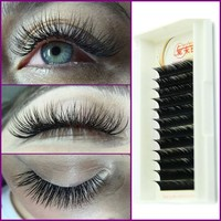 High Quality 0.07 D Curl Mink Lashes Black Individual False Eyelash Extension Thick Fake Eyelash 8mm to 15mm Free Shipping