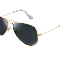Look at this fancy Ray-Ban's | AVIATOR SOLID GOLD