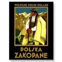 Zakopane Polska ~ Vintage Poland Travel Poster Post Cards
