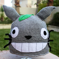 Totoro -ish Hat : Totally Cool Kawaii Japanese Cartoon Crochet Beanie Hat