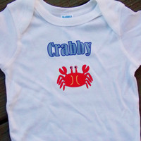 Little Crab Crabby Bodysuit. Creeper.