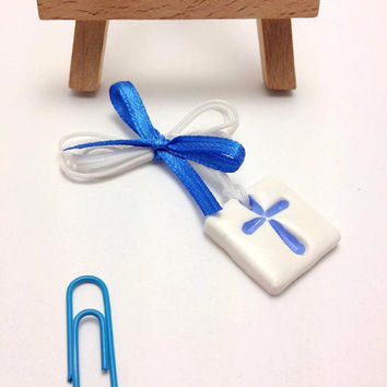 Baby Boy Witness Pins, Martyrika, Martirika, Μαρτυρικά, Polymer Clay, Handmade, Baptism, Christening, Baby Boy, Cross, Accessories