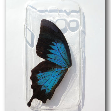 Samsung Galaxy S3 i9300 case, Resin with Real Butterfly wing