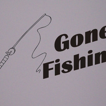 Gone Fishing wall decal