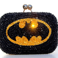 Batman Swarovski Crystal Clutch