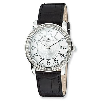 Men's, Stainless Steel with Swarovski Crystals Watch by Charles Hubert