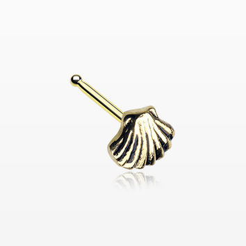 Golden Ariel's Shell Icon Nose Stud Ring