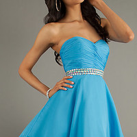 Short Strapless Party Dress by Alyce Paris
