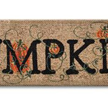 Burlap Pumpkin Sign for Fall
