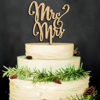 New Wood Wedding Cake Topper Happy Mr&Mrs Cake Decoration Anniversary Married Cake Insertion  wood wedding supplies MR MRS cake