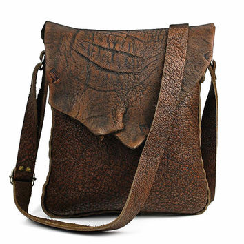Leather Shoulder Bag, Crossbody, Tote Bag, Distressed Leather Messenger Purse, Leather Bag, 5W506