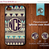 20% OFF SALE Personalized iPhone 4 Case - Plastic iPhone case - Rubber iPhone case - Monogram iPhone case - Aztec iPhone case - K067