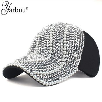 Trendy Winter Jacket [YARBUU]new brand Baseball caps for women rhinestone hat Lady Girl cap black colour snapback cap Casquette hats Adjustable Caps AT_92_12