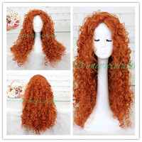 Animated movie of Brave MERIDA cosplay wig+a wig cap
