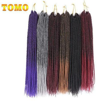 ac PEAPO2Q TOMO 30roots 14' 16' 18' 20' 22'  Senegalese Twist Crochet Braid Hair Extensions Ombre Kanekalon Synthetic Braiding Hair