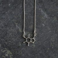 I Love Science Store T-Shirts Science Swag & Science Geek Humor | Theobromine (Chocolate) Molecule Pendant