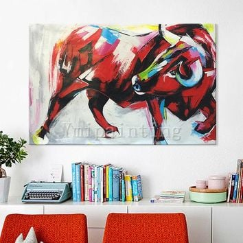 Animal Painting bull painting bull decor art Original oil painting impasto heavy texture Wall Pictures Home Decor hand painted