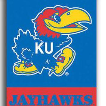 Kansas KU Jayhawks 28x40 (2 sided) Indoor Banner Scroll FREE US SHIPPING