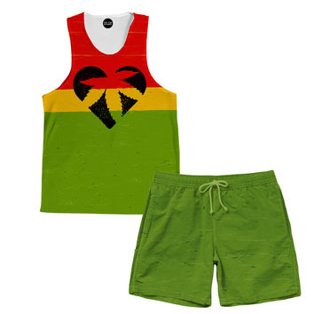 One Love Bud Tank and Shorts Rave Outfit