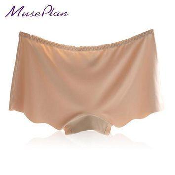 VONETDQ Hot Sale New Sexy Panties For Women Underwear Seamless Panties Boyshort Ice Silk  Safety Panties Plus Size Free
