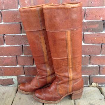 FRYE Campus Knee High Riding Boots sz 5.5 by DreamingTreeVintage